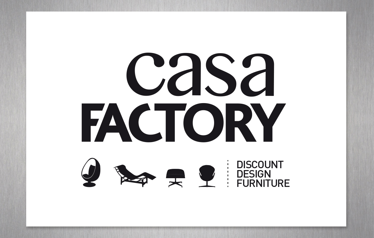 casa factory is a de stocking website of design furniture we worked on their advertising declinations in all types of media and contributed to the visual